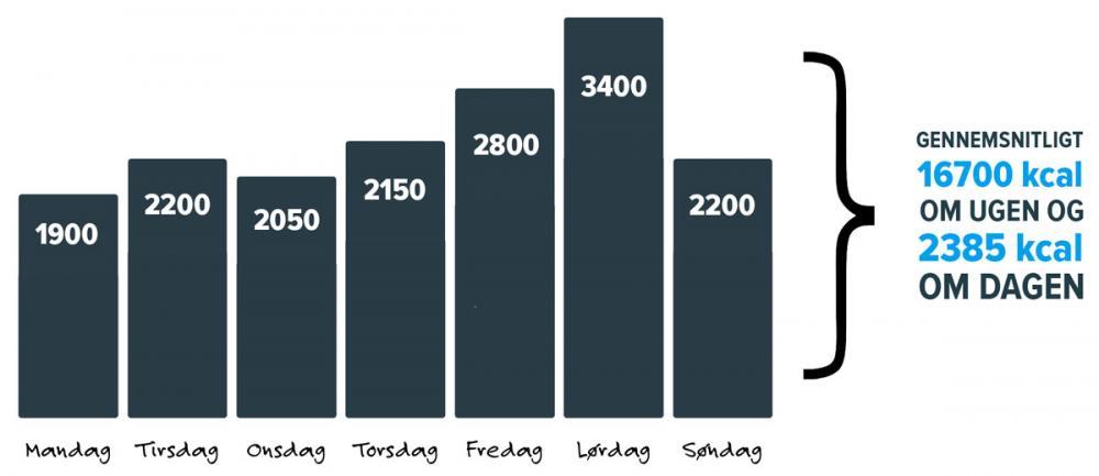 1900 kalorier om dagen